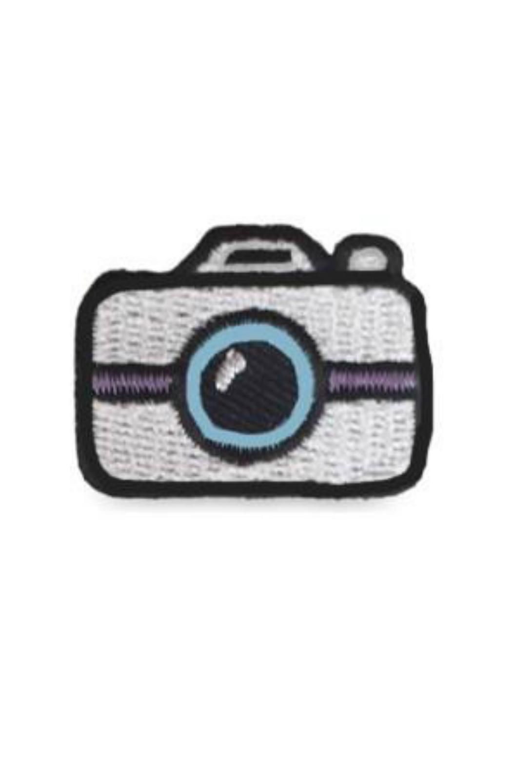 Our silver camera hipstapatch™ is an embroidered fabric patch that