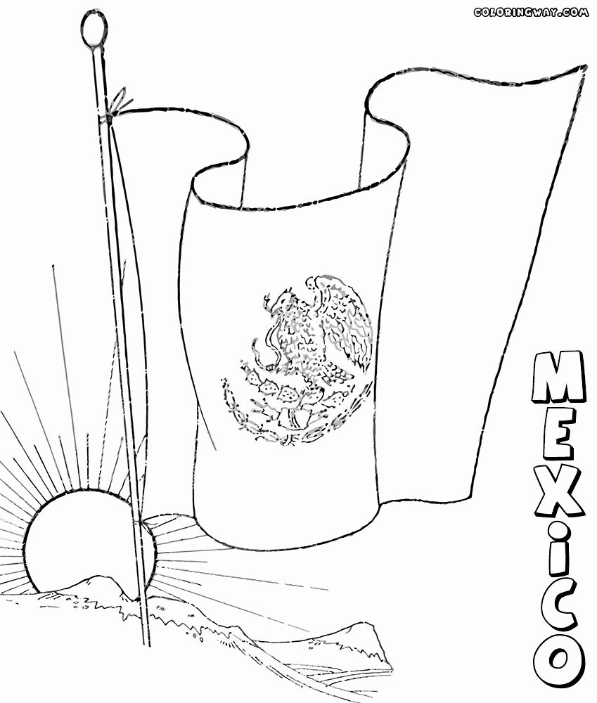 Mexico Flag Coloring Pages Best Of Mexican Flag Coloring Pages In