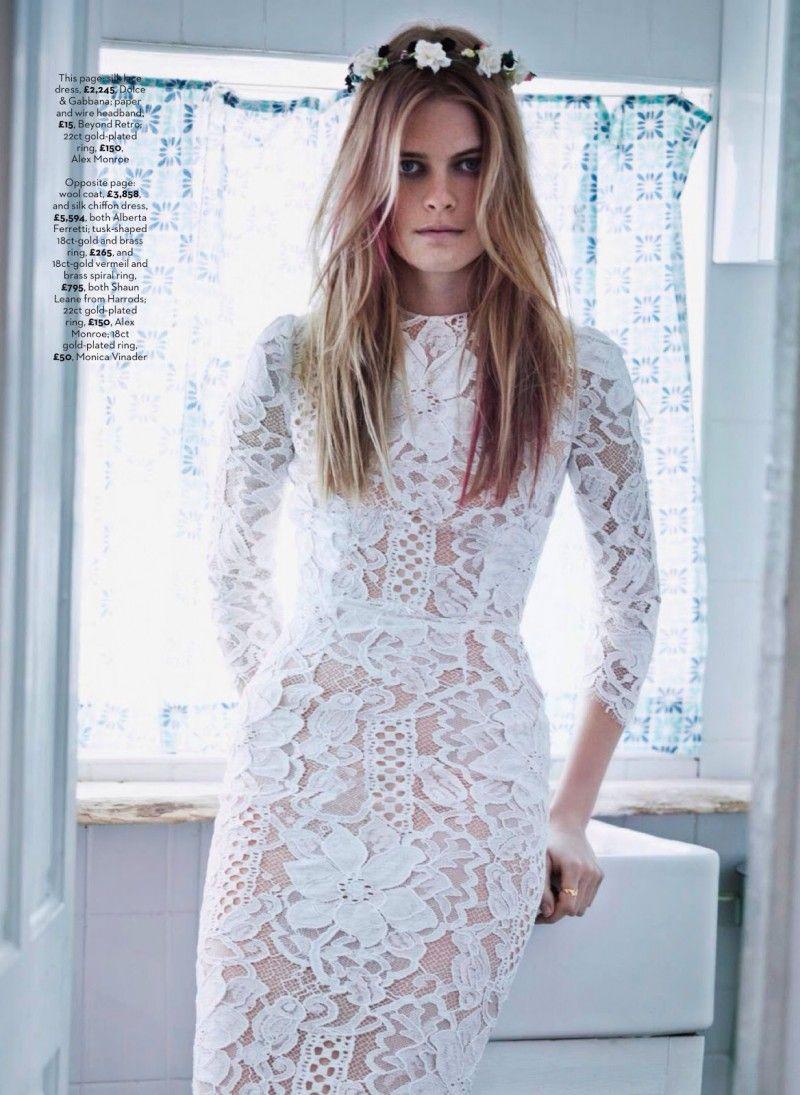 Dolce u gabbana white scalloped sheer lace midi nude lined dress