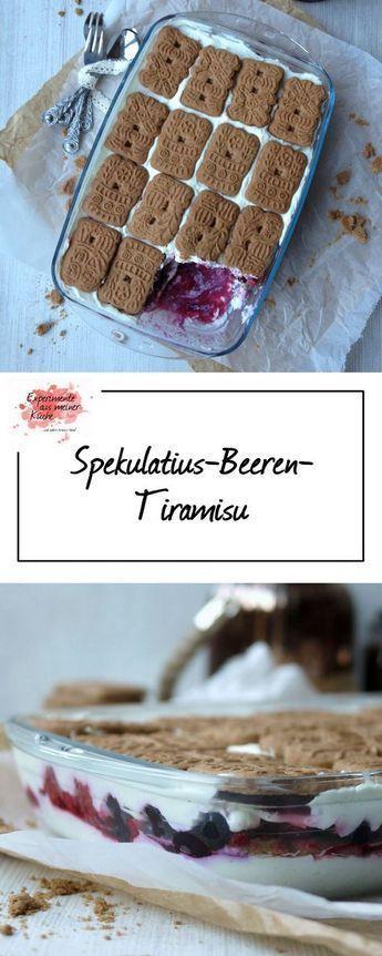 Spekulatius-Beeren-Tiramisu - Experimente aus meiner Küche #christmasdesserts