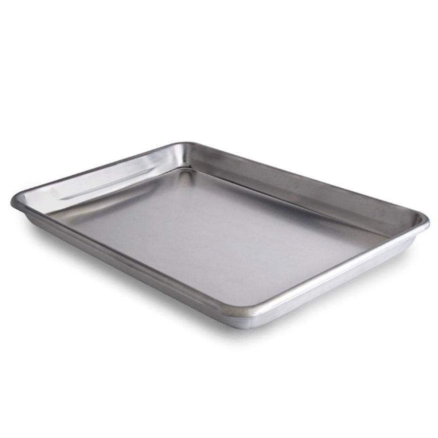 Vollrath 5220 Wear Ever Quarter Size 16 Gauge 9 1 2 X 13 Curled Rim No Wire Aluminum Bun Sheet Pan Pan Roasting Pan Baking