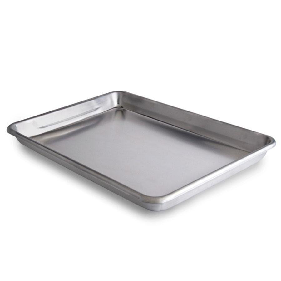 Vollrath 5220 Wear Ever Quarter Size 16 Gauge 9 1 2 X 13 Curled Rim No Wire Aluminum Bun Sheet Pan Pan Roasting Pan Baking