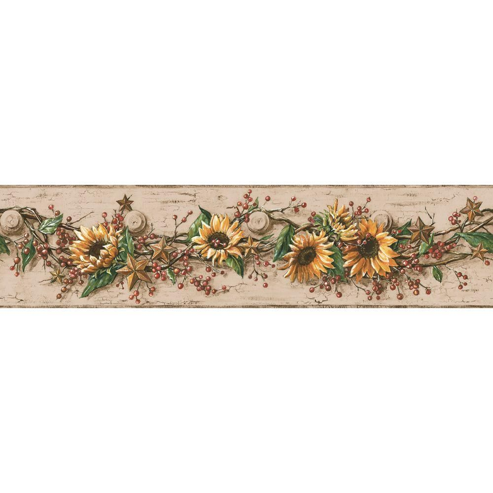 York Wallcoverings Sunflower Wallpaper Border CB5517BD in