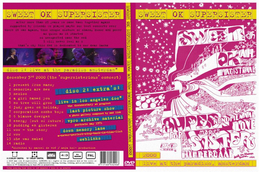 SUPERSISTER/Sweet Ok Supersister: Live At The Paradiso