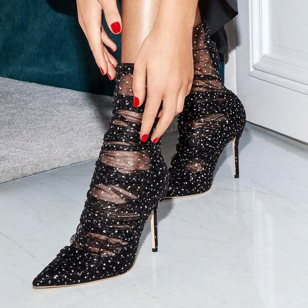 """5b91be19d5d8 Jimmy Choo on Instagram: """"LAVISH by name and lavish by nature, these polka  dot net detail pumps need no introduction. Available now at JimmyChoo.com."""