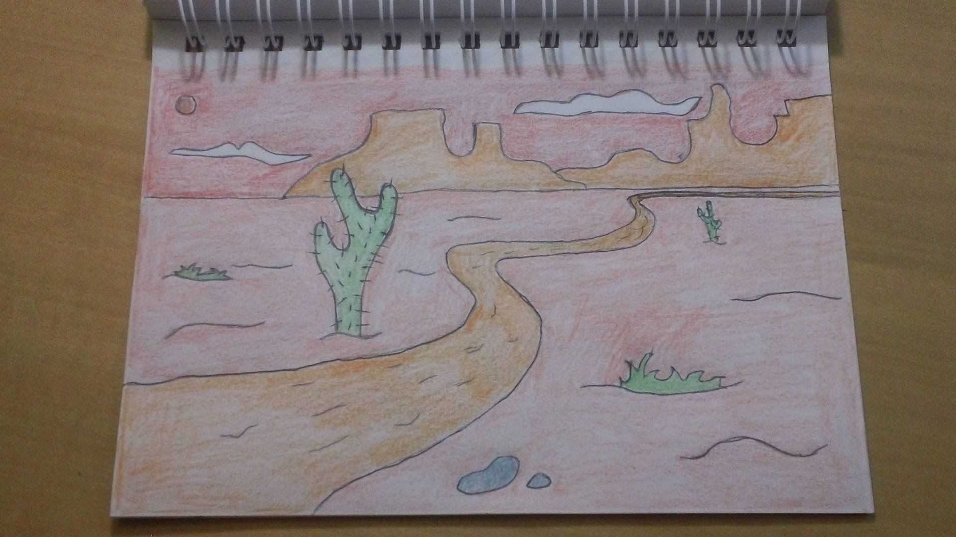 190 How To Draw Another Cool Easy Cartoon Desert Background Desert Drawing Simple Cartoon Drawings
