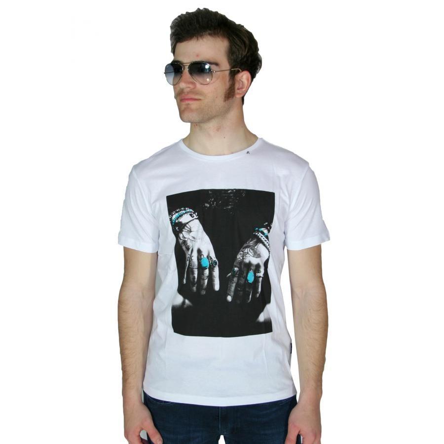 264bd420abe6 REPLAY Ανδρική λευκή κοντομάνικη slim fit μπλούζα Μ3266