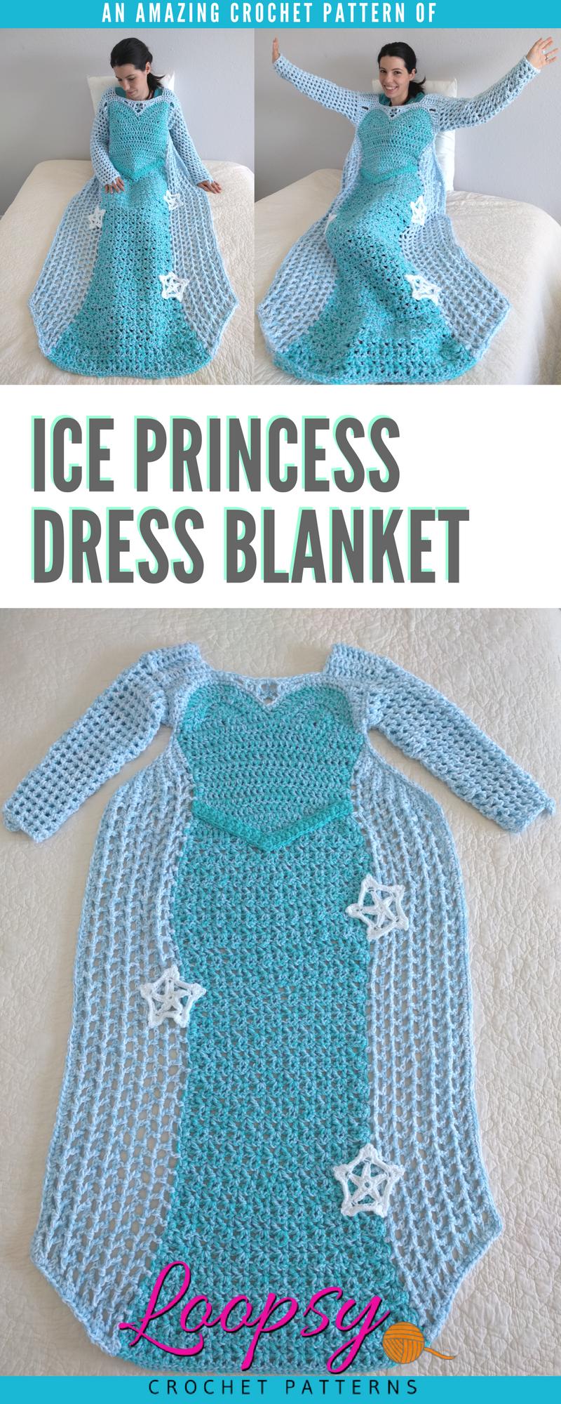 Princess Blankets, Crochet Pattern, Mother Daughter Matching Dress ...