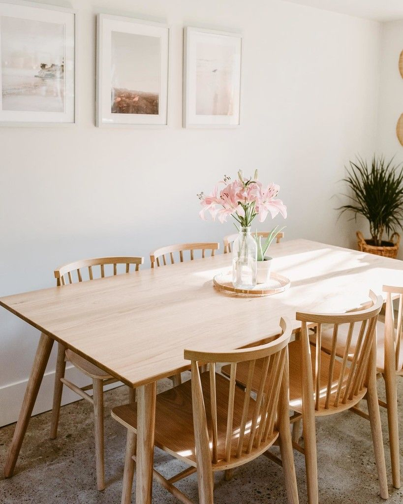 21++ Light oak dining set Trend