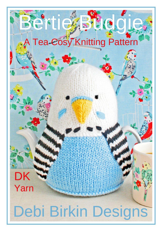 BUDGIE budgerigar tea cosy knitting pattern teacozy cozy cosies PDF email
