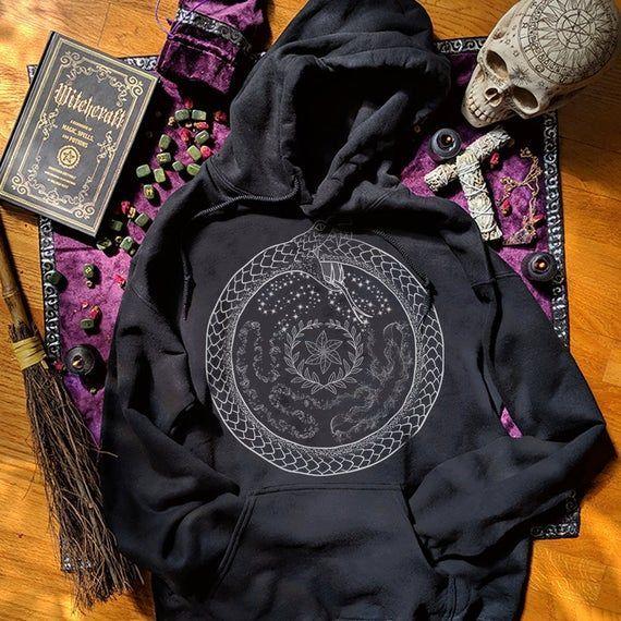 Hecate Hekate Wheel Ouroboros Hoodie Plus Size Pagan Witch Clothing Women Triple