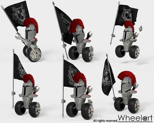 Wheelart 3D mascot