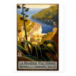 Italian riviera vintage travel poster postcard  Italian riviera vintage travel poster postcard  $1.20  by globetrotter4U   More Designs http://bit.ly/2g4mwV2 #zazzle