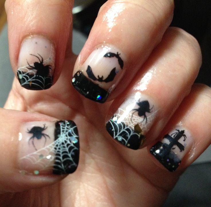 20 Spook-tacular Halloween Manicure Ideas | Oval shaped nails ...