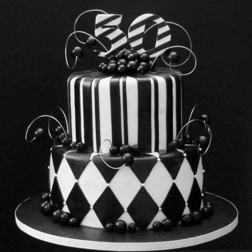 Black And White 50th Birthday Cake Birthday Cake Ideas For Women