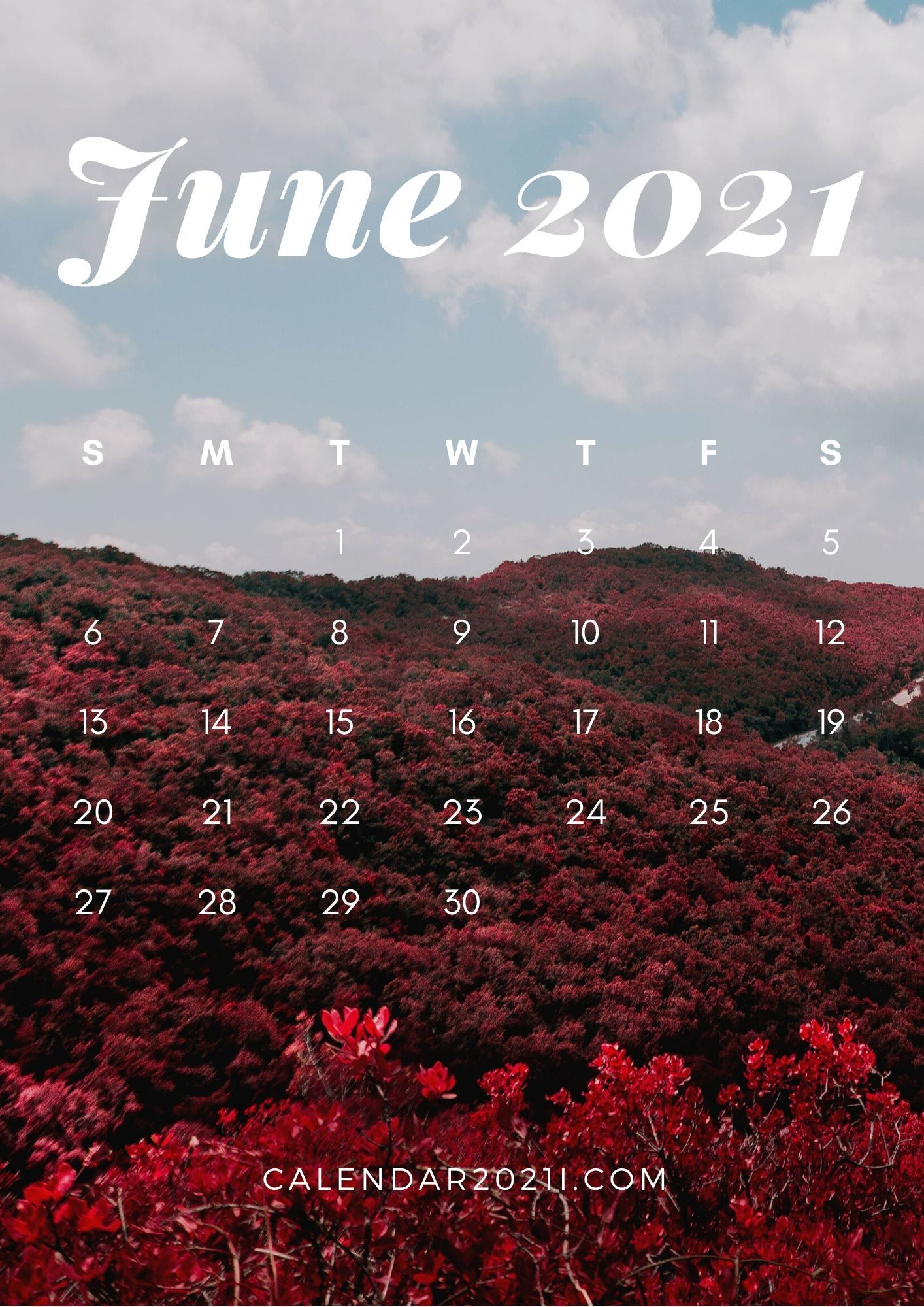 June calendar 2021 hd wallpaper for apple iphone