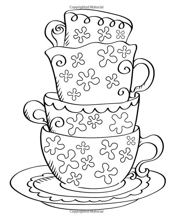 Morning Tea Cupcake Heaven Yummy Adult Coloring Journal Book Books