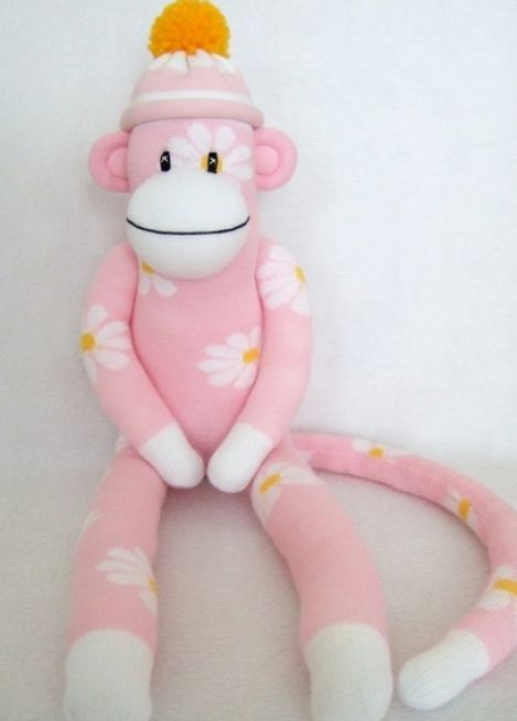 64ea2eabd35 I think every little girl needs her own sock monkey. Now I just need to  find cute socks to do this with.