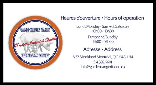 Le garde manger italien The Italian Pantry Montreal NDG