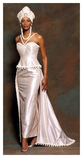 influenced by stylings from african wedding gowns