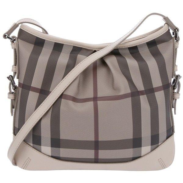 4316869d7804 BURBERRY BRIT Checked shoulder bag ❤ liked on Polyvore