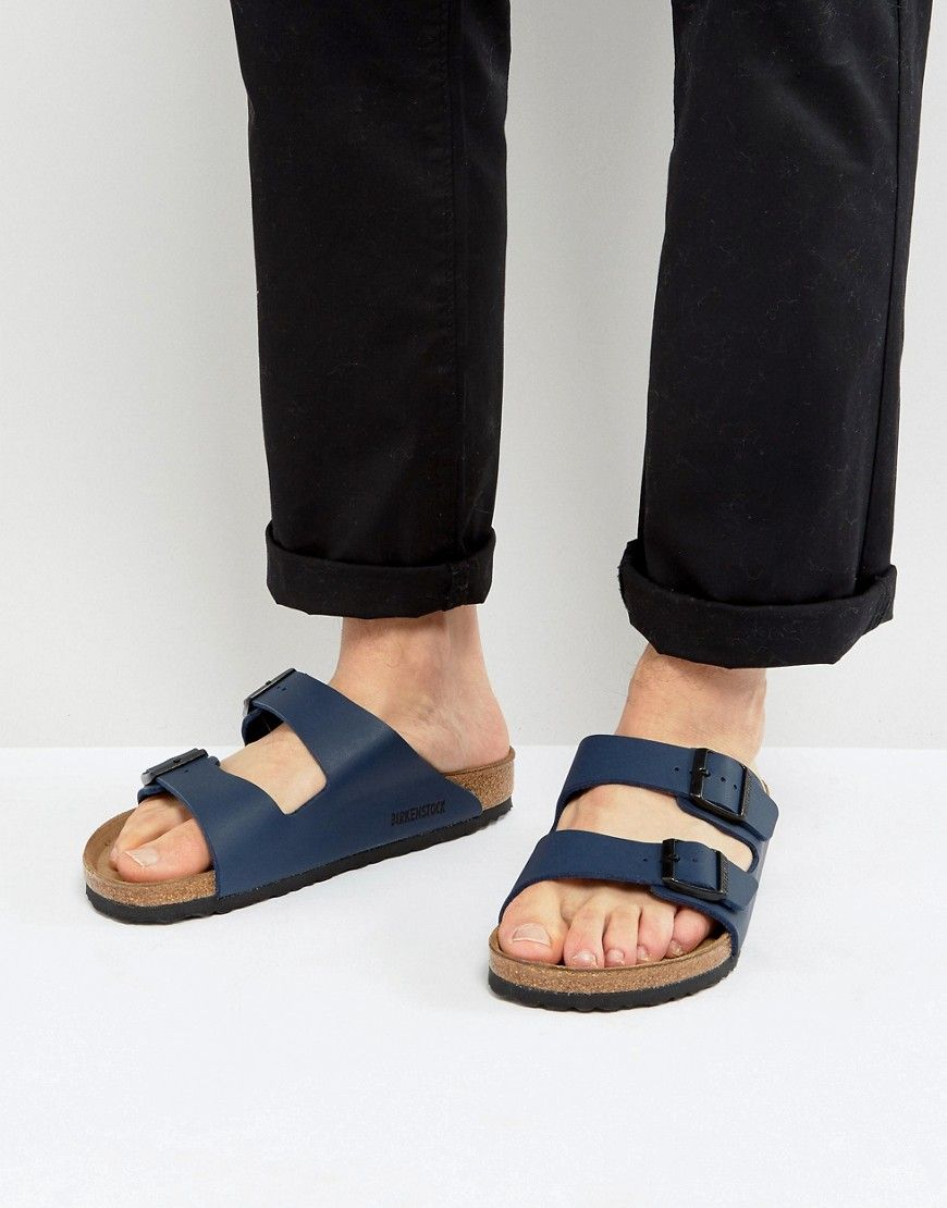 2bd923799861 BIRKENSTOCK ARIZONA SANDALS IN BLUE - NAVY.  birkenstock  shoes ...