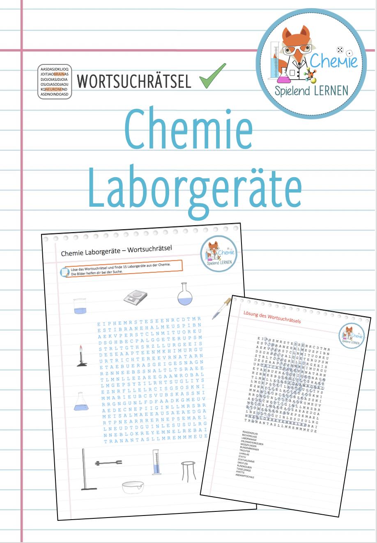 Laborgerate Chemie Wortsuchratsel Unterrichtsmaterial Im Fach Chemie Worter Suchen Ratsel Lernen Chemieunterricht