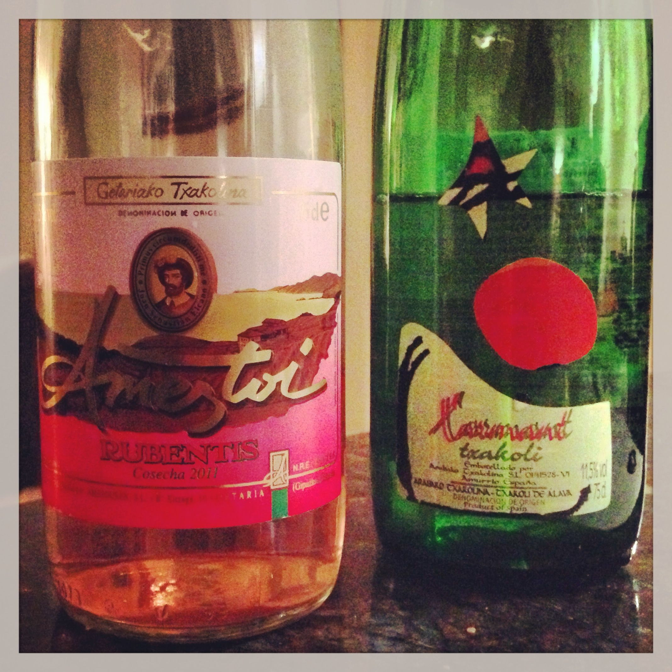 The Most Appropriate Way To Celebrate Spring Side By Side Txakolinas I Love The Very Distinct Differences Between These Spring Treats Apple Pear Wine Bottle