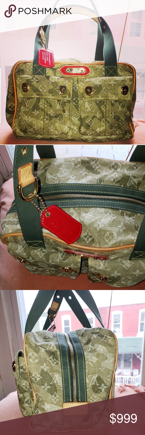 e6a41b09b443 Louis Vuitton Monogramouflage Jasmine Shoulder Bag The Jasmine Denim bag is  a Limited Edition Satchel done in collaboration with Takashi Murakami.