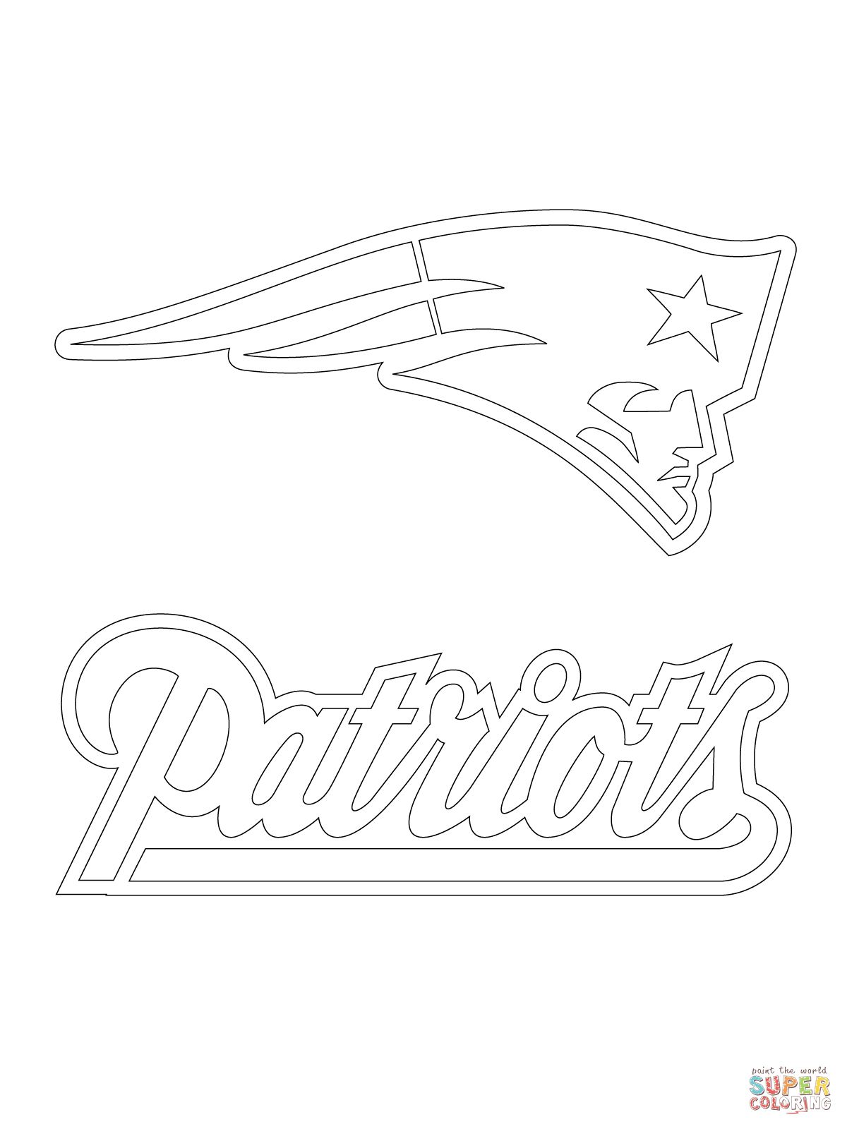 New England Patriots Logo New England Patriots Logo Patriots Logo Football Coloring Pages