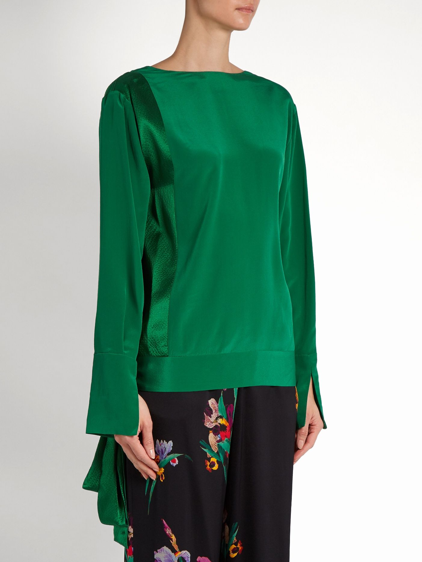 Crossover silk blouse  | Diane Von Furstenberg | MATCHESFASHION.COM UK