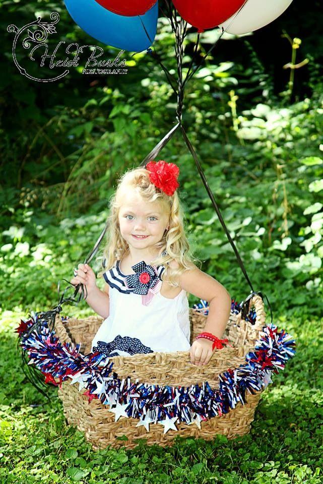 Hot Air Balloon Photoshoot With Little Girl