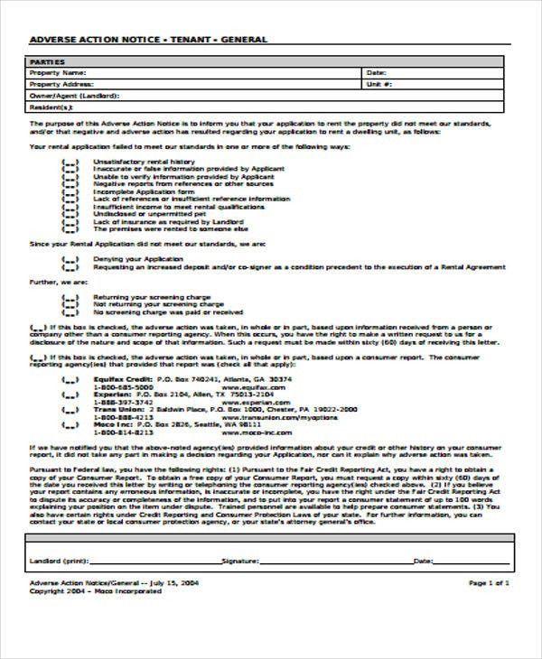 Adverse Action Letter Sample In 2020 Letter Sample Lettering Reference Letter