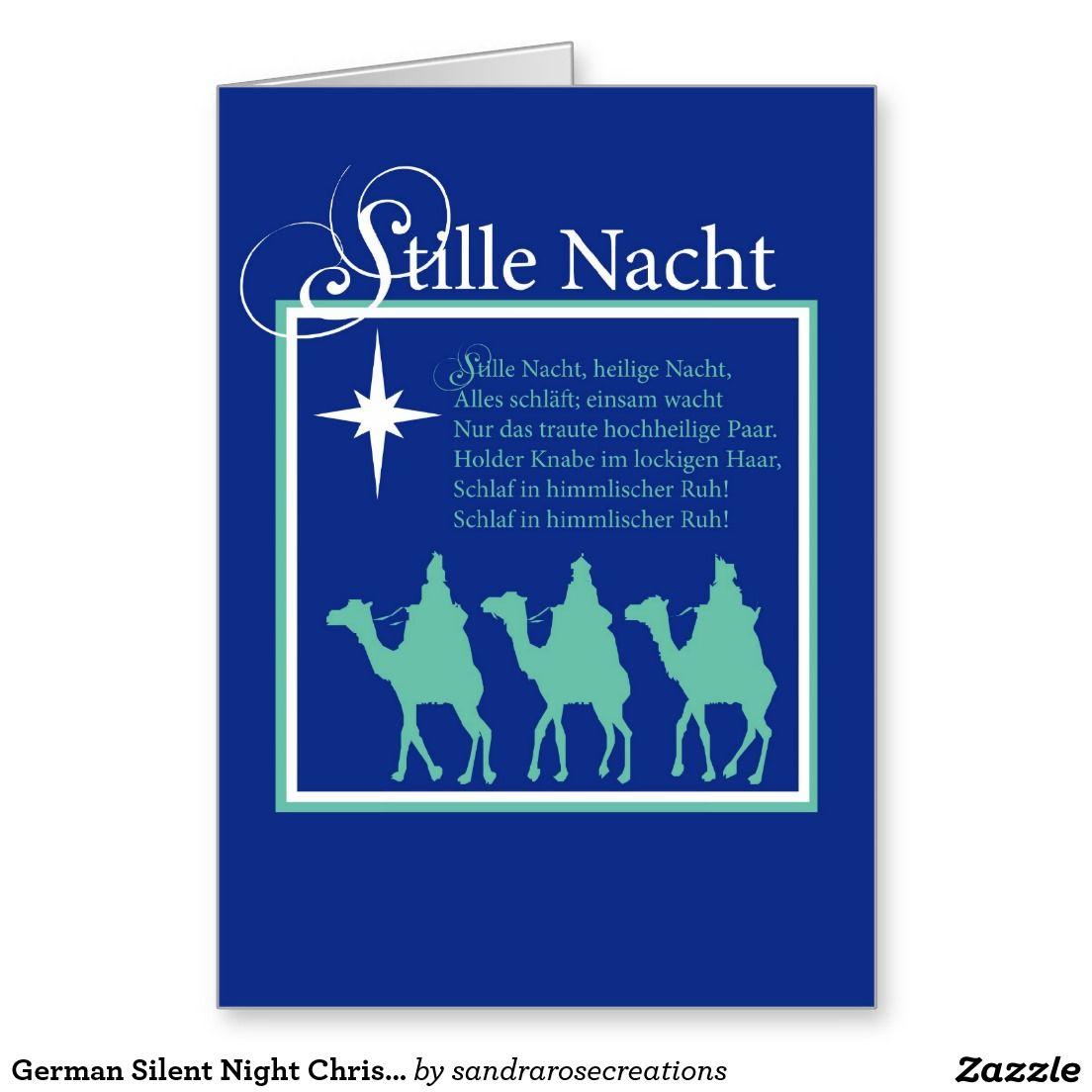 German Silent Night Christmas Card