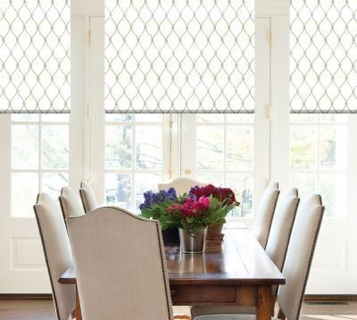 Premium Roman Shades Dining Room Window Treatments Dining Room Windows Dining Room Decor