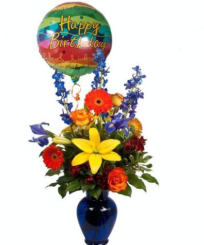 Sapphire Blue Birthday @Freytag's Florist