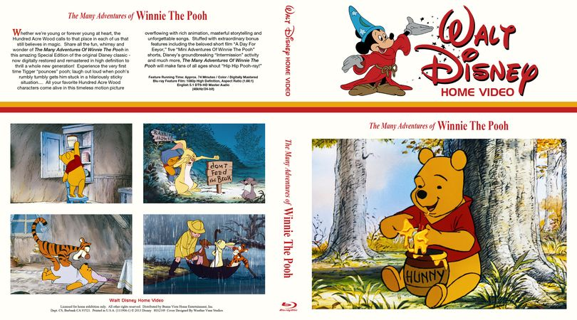 The many adventures of winnie the pooh blu ray cover
