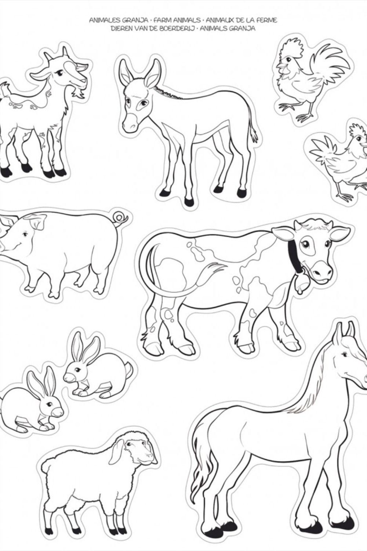 2 Hojas Gomets Tematicos Para Colorear La Granja Apli 16728 Animales Para Pintar Animales De La Granja Dibujos