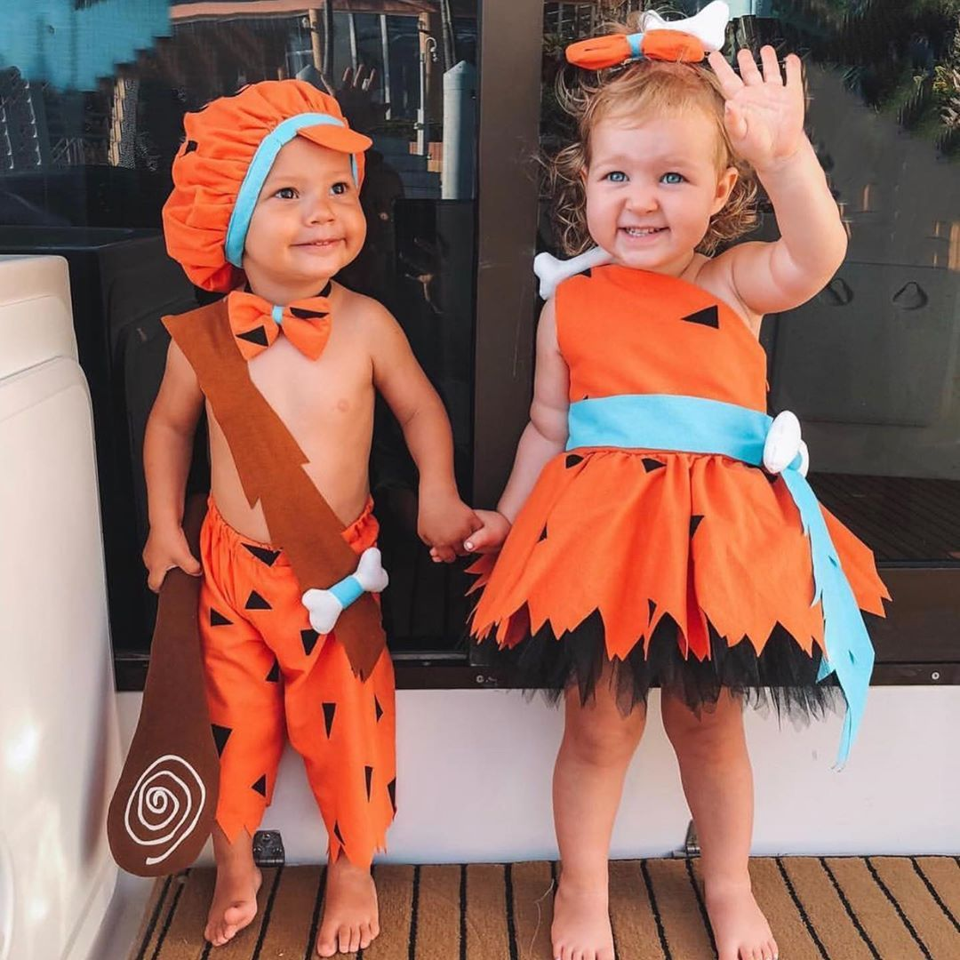 "@hannahpolites on Instagram: ""For all the flinstones recommendations ��� We had the cutest Pebbles and Bam Bam last year �� . #halloweencostume #halloween #pebbles…"""