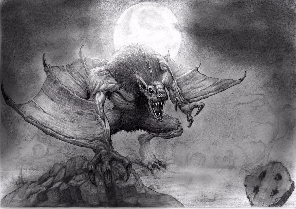 Varghulf Warhammer vampire counts, Vampire counts, Sketches