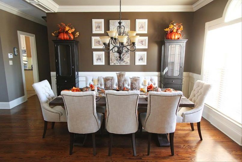 Dining Room Table Mat Black Curio Cabinet White Futon Chair Wooden Pumpkin Candle
