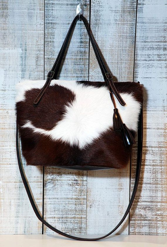 Cowhide Purse Crossbody Bag Cow Hide Leather By Percibal