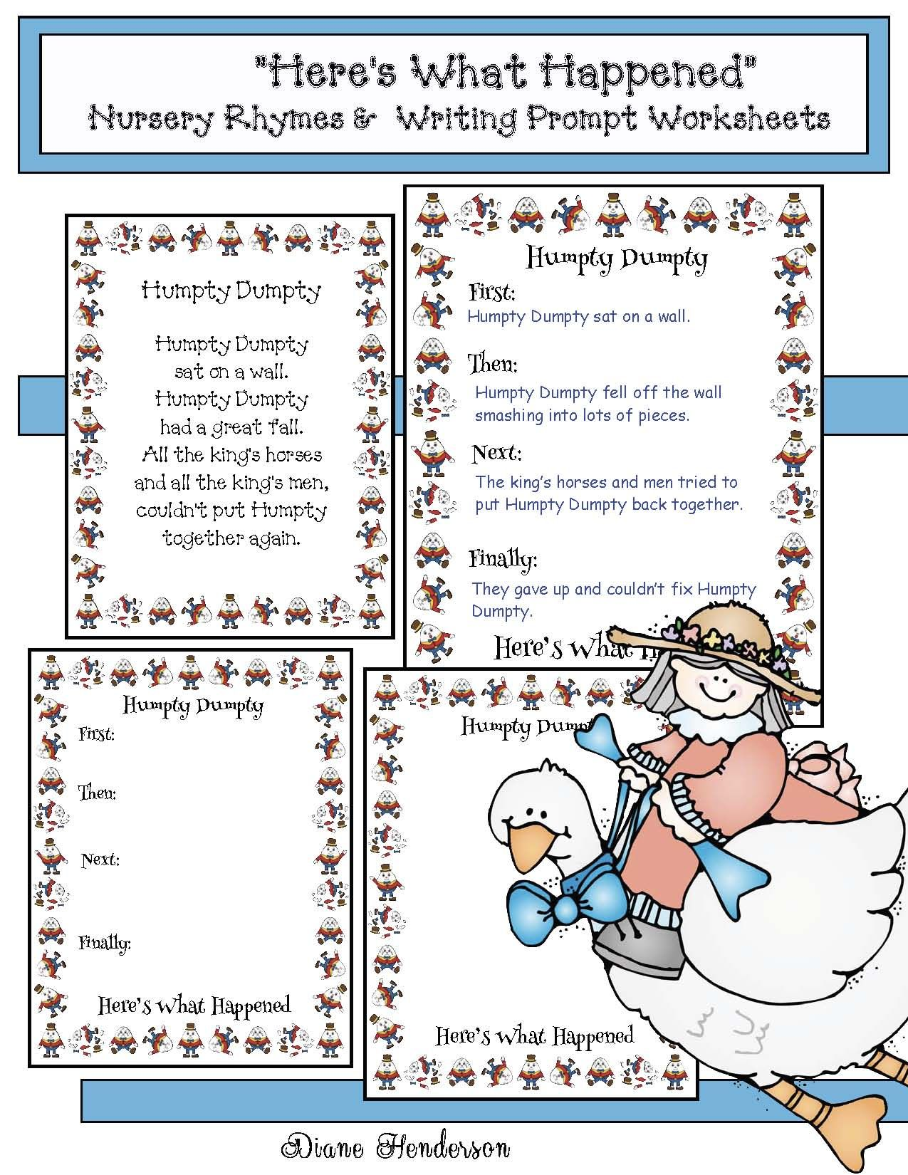 worksheet Beginning Middle End Worksheet nursery rhymes writing prompt worksheets for 10 different interesting way to check comprehension practice beginning middle end transitional completed projects make a sweet b