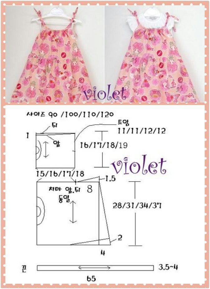Pin de Yiu Pineda en ropa bebé | Pinterest | Patrones, Vestidos de ...