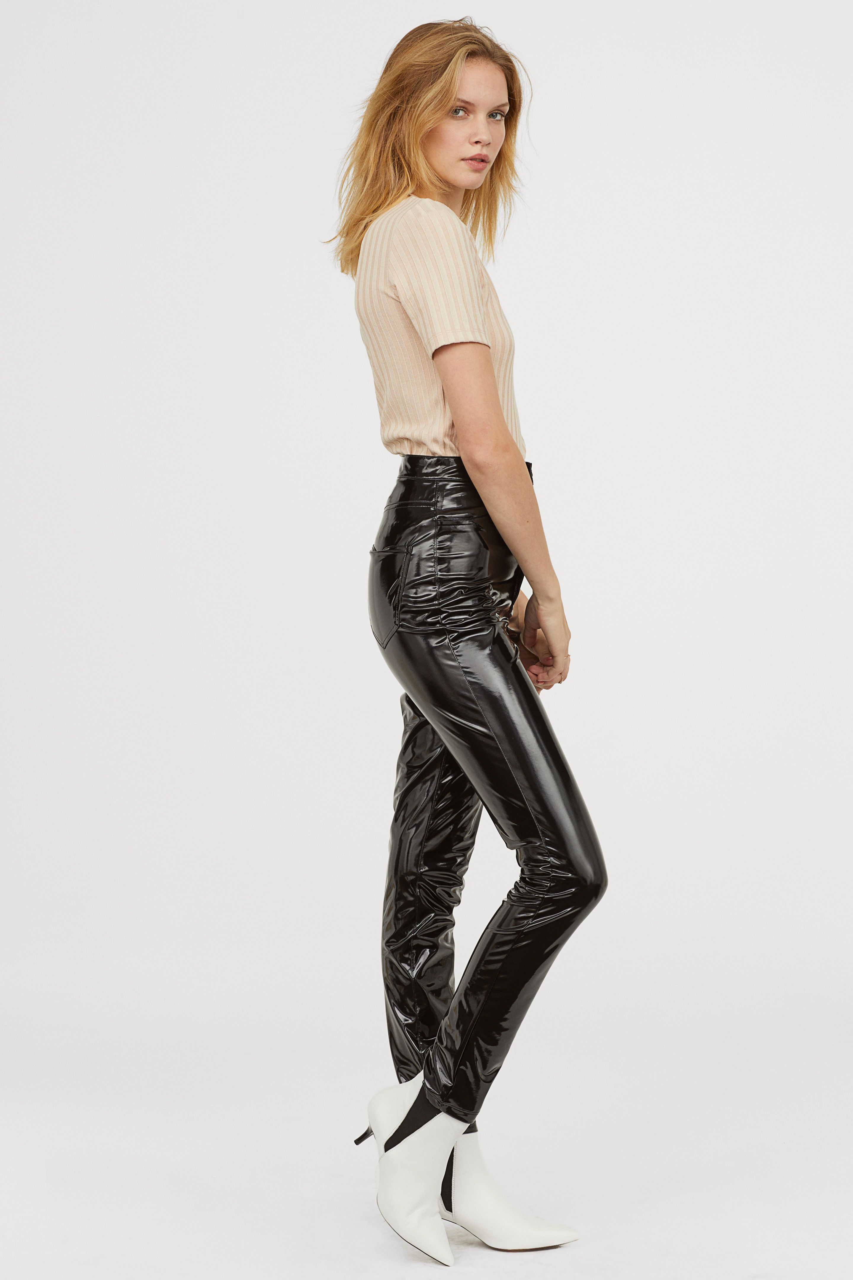 08a49666dd3f6 Faux Leather Pants in 2019 | Outfit Ideas | Faux leather pants ...