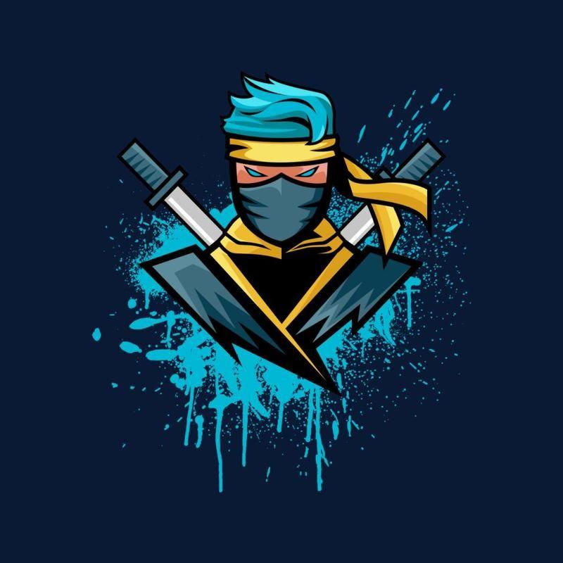 Gamer Blue Ninja Ninjashyper Kid S Sweatshirt By Trapmonkie Cloud City 7 Logo Design Art Ninja Logo Art Logo