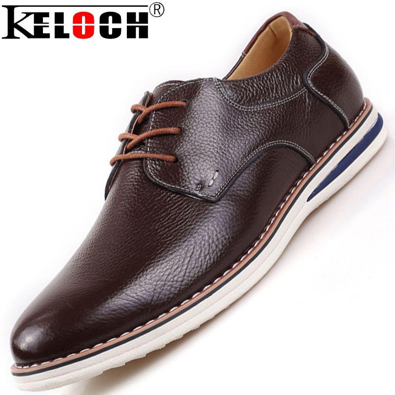 SODIAL (R) NUEVOS zapatos de gamuza de cuero de estilo europeo oxfords de los hombres casuales Azul(tamano 38) 6E0Kna74X3