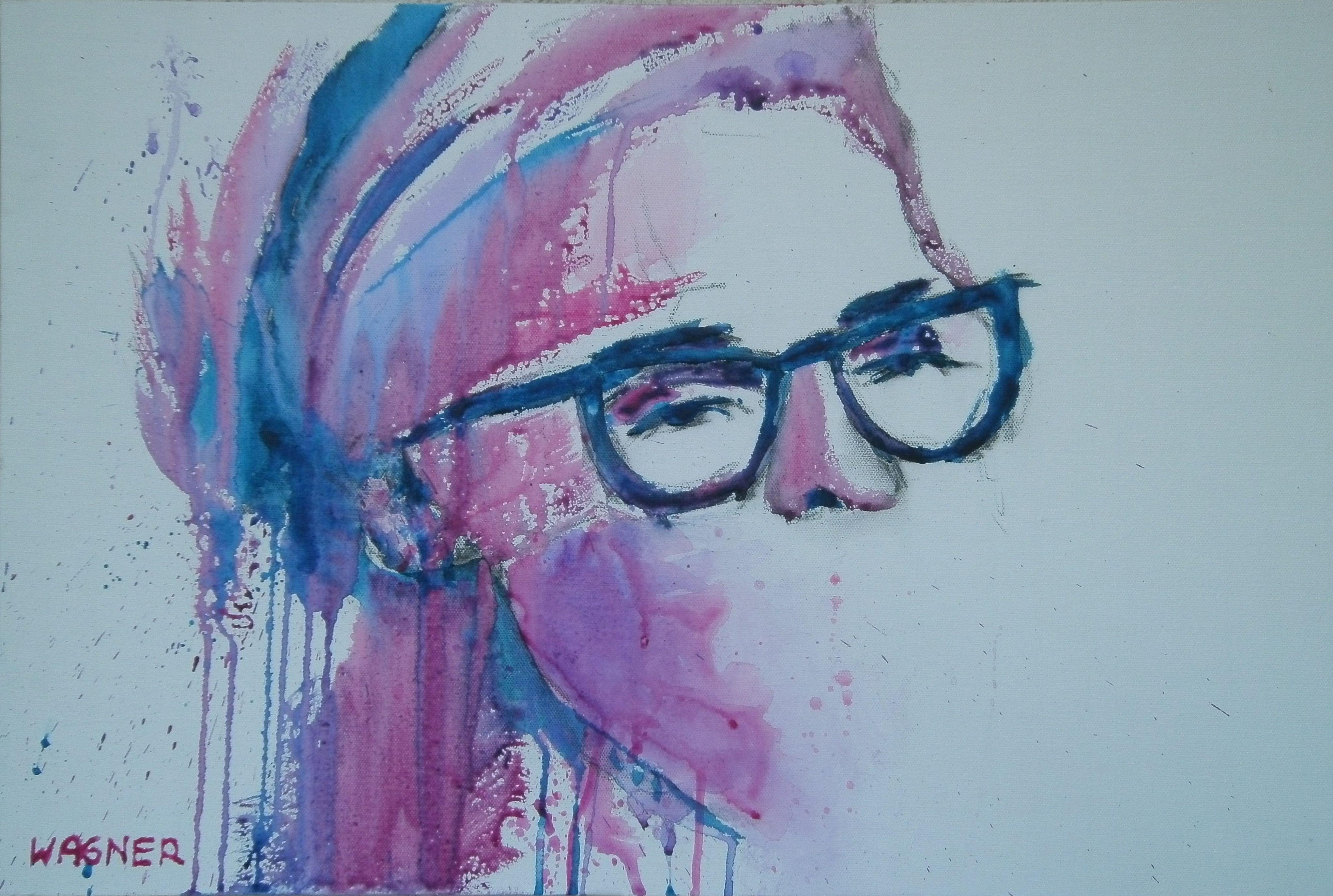 Woman Face inspiriert durch Florian NICOLLE , Acryl auf Leinwand