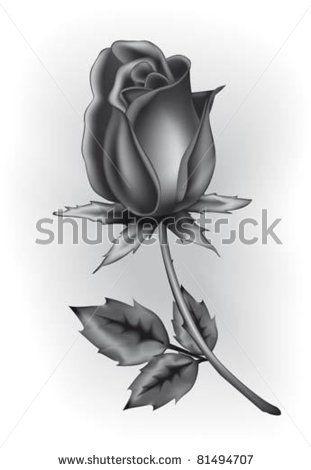 Black Rosebud Tattoos Rose Bud Tattoo Rose Outline Drawing