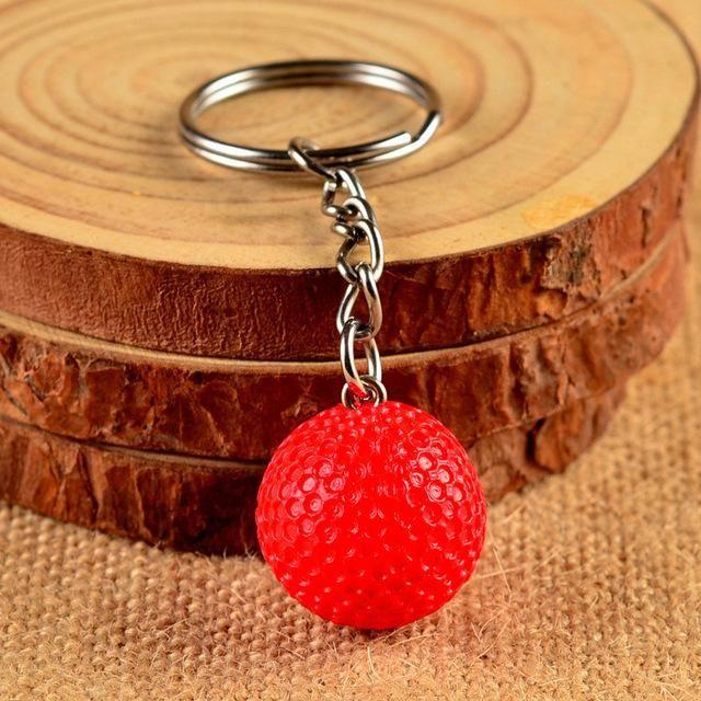 Fashion Club Metal Keychain Sport Key Chains 5Pcs/Lot Mini Football Basketball Golf Ball Pendant Key Chains For Men And Women